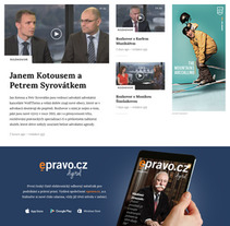 Epravo, Czech finance portal. A Web Design project by Six Design         - 04.12.2017
