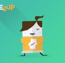 Visuales Game2up . Um projeto de Web design e Ilustración vectorial de Javier García Torralba - 06-12-2015