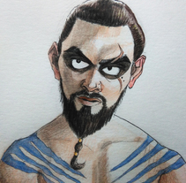 Khal Drogo. Game of Thrones.. Un proyecto de Ilustración y Diseño de personajes de Inma MC         - 07.12.2017