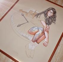 La contemplación. A Illustration project by Elena Pancorbo         - 13.12.2017