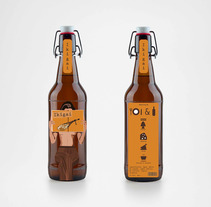 Ikigai creación de marca de cerveza inventada. A Design, Illustration, Br, ing, Identit, Character Design, Fine Art, Graphic Design, Packaging, Product Design, Vector illustration&Icon design project by Lucía Bretón         - 14.12.2017