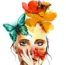 Mi Proyecto del curso: Retrato ilustrado en acuarela. Un proyecto de Ilustración de Mari Vidal         - 24.12.2017
