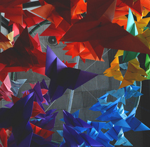 Mariposas Origami. A Installations, and Fine Art project by Alejandro Bernatzky         - 24.10.2016