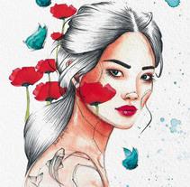 Retrato ilustrado en acuarela. A Illustration project by yaizadibuja - 15-01-2018