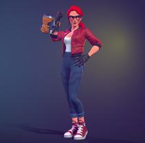 RedHair. Um projeto de 3D e Design de personagens de gesiOH         - 24.01.2018