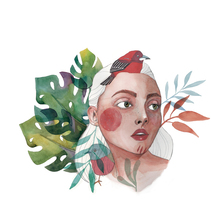 Pajaros (Tropicales) en la Cabeza . Un proyecto de Ilustración de Lina Yumi Traspaderne         - 25.01.2018