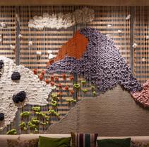 Instalación tapiz para Luzia Restaurant. A Crafts project by mariadela araujo         - 02.12.2016