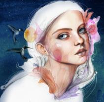 Mi Proyecto del curso: Retrato ilustrado en acuarela. Un proyecto de Ilustración, Bellas Artes, Pintura y Retoque digital de Roxana Brizuela         - 08.02.2018