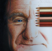 Robin Williams en Lápices de Colores. A Illustration project by Néstor Canavarro         - 13.02.2018
