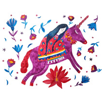 Unicornio y sueños. Un proyecto de Diseño e Ilustración de Budupí Budupí         - 14.02.2018