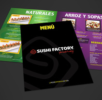 Menú Restaurant Sushi Factory 2014. Um projeto de Design gráfico de Paola Villegas         - 21.02.2018