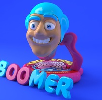 Boomer Gum. A Design, Advertising, 3D, Animation, and Graphic Design project by Marc Bupe         - 21.03.2018