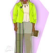 """PV18 Tendencia Moda; """"Color pistacho"""". A Design, Fashion, Fine Art, and Graphic Design project by Lara Cuerdo Cabrera         - 22.02.2018"""