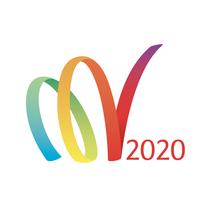 Voluntarios Madrid 2020: Logotipo y aplicaciones. Un proyecto de Br, ing e Identidad y Diseño gráfico de Ana Paniagua         - 28.02.2012