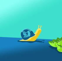 Snail . Um projeto de Motion Graphics, Animação e Ilustración vectorial de Nico Medina         - 03.03.2018