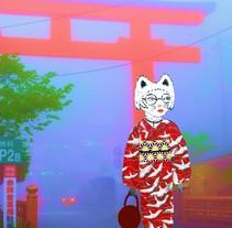 Neko Kimono. A Illustration project by Tatiana Moneta         - 05.03.2018