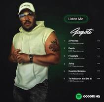 Spotify Gogote. A Graphic Design, Marketing, and Street Art project by Yermain Garcia         - 09.03.2018