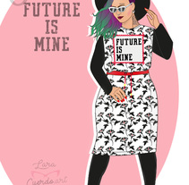 "Ilustración Curvy ""The future is mine"". A Design, Fashion, Fine Art, and Graphic Design project by Lara Cuerdo Cabrera         - 11.03.2018"