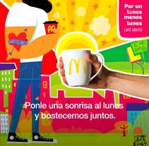 "McDonald's ""Por un lunes  menos lunes"". A Vector illustration project by Juanma García Escobar         - 19.03.2018"