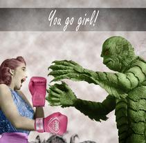 """Retoque fotográfico y composición """"YOU GO GIRL"""". A Design, Photograph, Fine Art, Graphic Design, and Digital retouching project by Lara Cuerdo Cabrera         - 21.03.2018"""