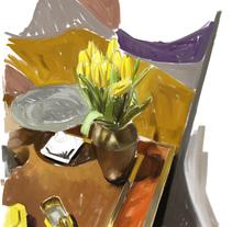 Still Life in Yellow. Um projeto de Ilustração, Direção de arte e Pintura de Carlos Miralles         - 21.03.2018