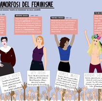 Metamorfosis del feminismo. Un proyecto de Infografía e Ilustración vectorial de Laia Piñol         - 25.03.2015