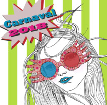 Mini cartel Carnaval. A Illustration, and Graphic Design project by Sara Cuenca Segovia         - 06.04.2018