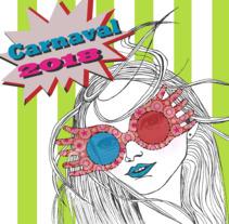 Mini cartel Carnaval. Un proyecto de Ilustración y Diseño gráfico de Sarie Stein         - 06.04.2018