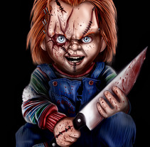 Chucky + Speedpaint. A Illustration project by AdrianArt         - 18.04.2018